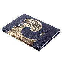 Бизнес-блокнот А6, 80 листов Gold Style, твёрдая обложка, матовая ламинация, 3D-фольга, фото 1