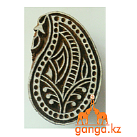 Печать для мехенди Капля (деревянная), КОД 0376