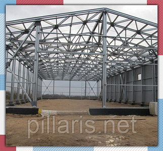 Изготовление производственных зданий 14х80х4,5(h)м