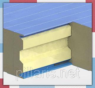 Стеновая сэндвич-панель 120 мм с пенополиизоцинуратом (PIR)
