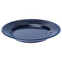 Тарелка десертная, СТРИММИГ  каменная керамика синий IKEA, ИКЕА, фото 1