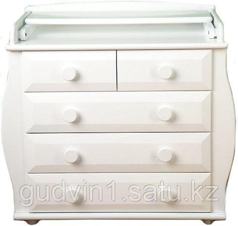 Комод с пеленальным столиком Лель БИ36 / белый жемчуг