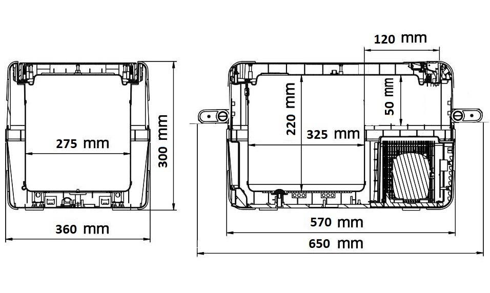 Компрессорный автохолодильник Alpicool A25 (25 Л) 12-24-220В - фото 7