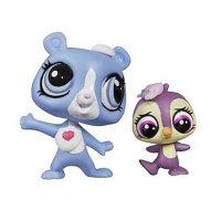 Зверушка Littlest Pet Shop и ее малыш - Мишка и пингвиненок, фото 1