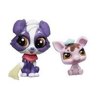 Зверушка Littlest Pet Shop и ее малыш - Колли и поросёнок, фото 1