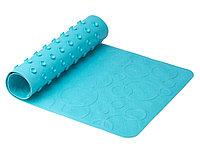 Антискользящий резиновый коврик для ванны без отверстий, цвет аквамарин, 35*76 см