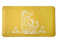 Антискользящий резиновый коврик для ванны ROXY-KIDS (желтый жираф), 58*34 см