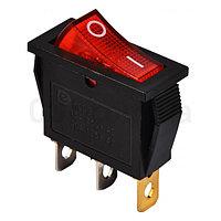 Переключатель KCD3-101N R/B черный с красной клавишей с подсветкой