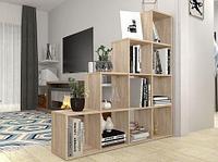 Стеллаж для дома Polini Home Smart Каскадный 10 секций дуб