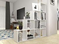 Стеллаж Polini Home Smart Каскадный 10 секций белый