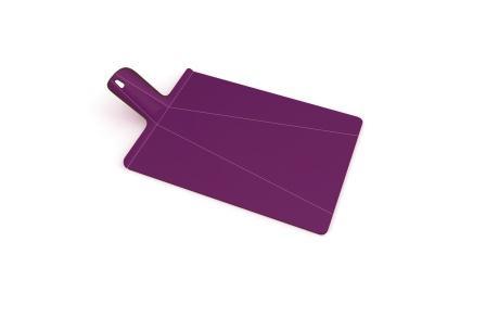 Доска разделочная пластиковая 38x21x1.5  cm, Joseph Joseph Chop2Pot™ Plus, фиолет (60050)