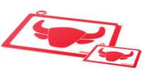 Доска Mastrad разделочная Мясо - набор из 2 шт, (35*28  см + 21*14.8 см), красная F23110