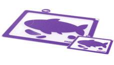 Доска Masrad разделочная Рыбы - набор из 2 шт (35*28  см + 21*14.8 см), фиолетовая F23105