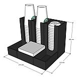 Диспенсер №4 (ОРГАНАЙЗЕР) для кофейных стаканов, сахара, салфеток, чая и мешалок, фото 3