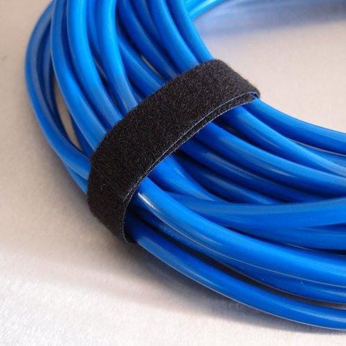 Многоразовая крепежная лента липучка Hook & Loop, ширина 20 мм (25 метров в рулоне) black