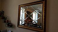 Зеркальное панно в багете