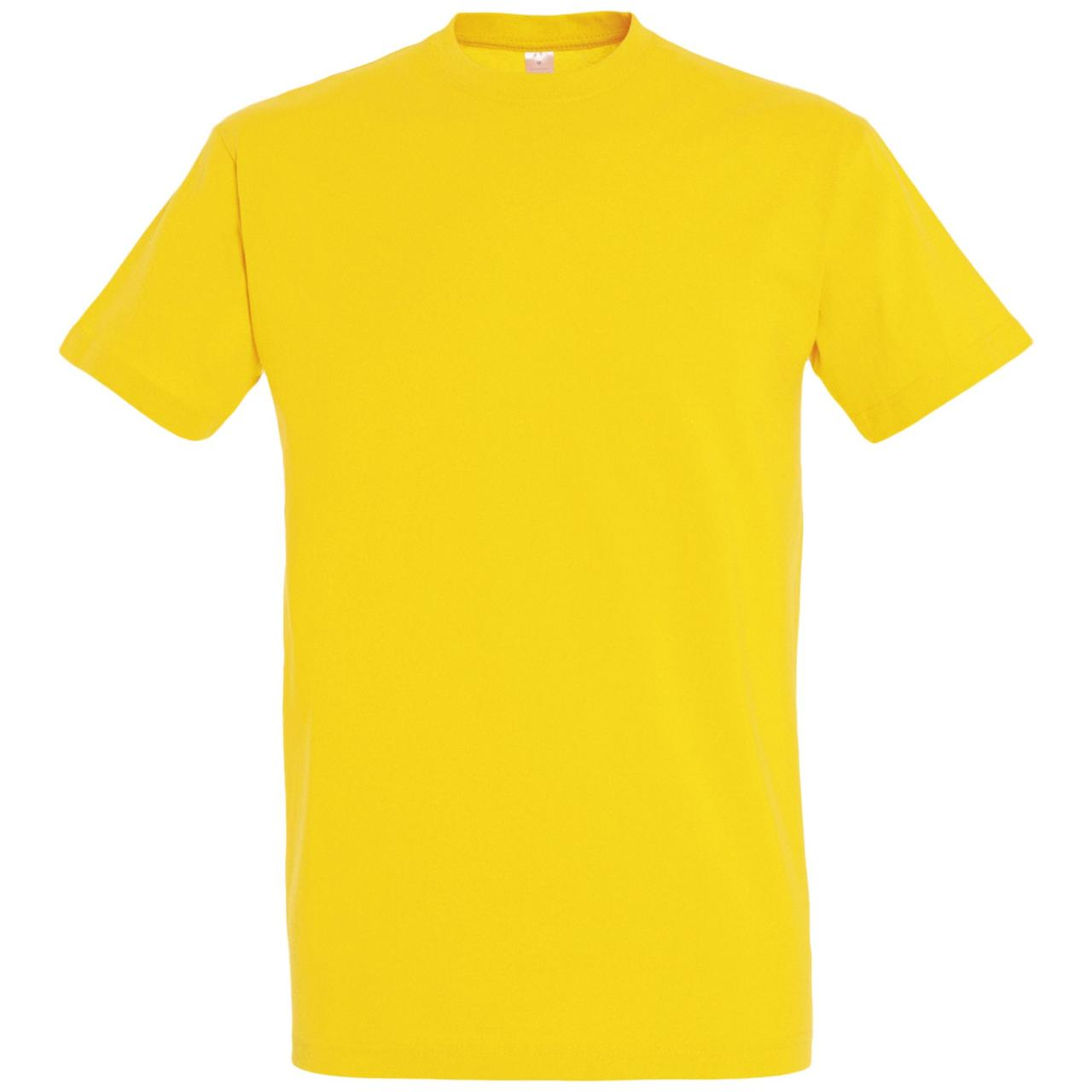Oднотонная футболка | Желтая | 160 гр. | XS