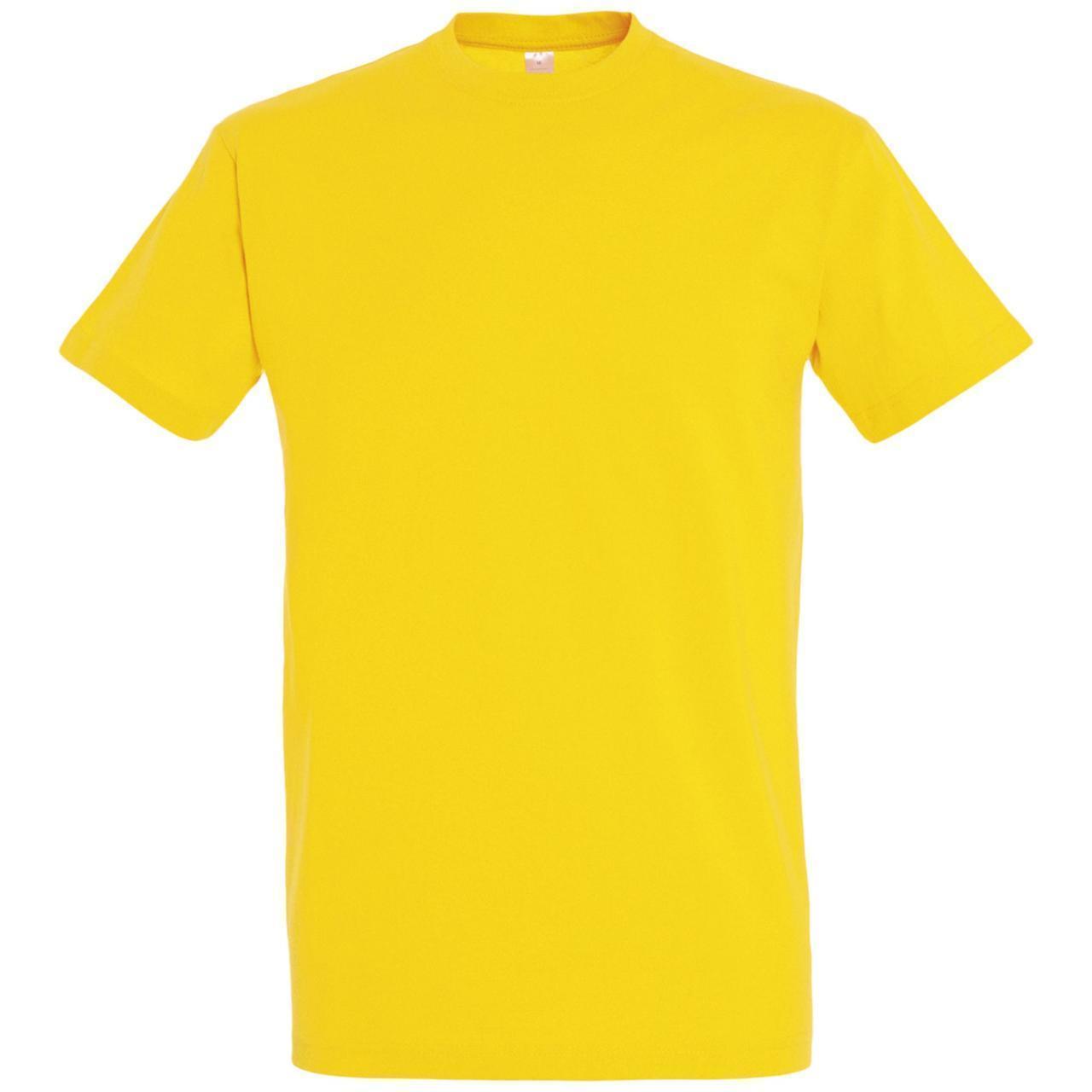 Oднотонная футболка   Желтая   160 гр.   2XL