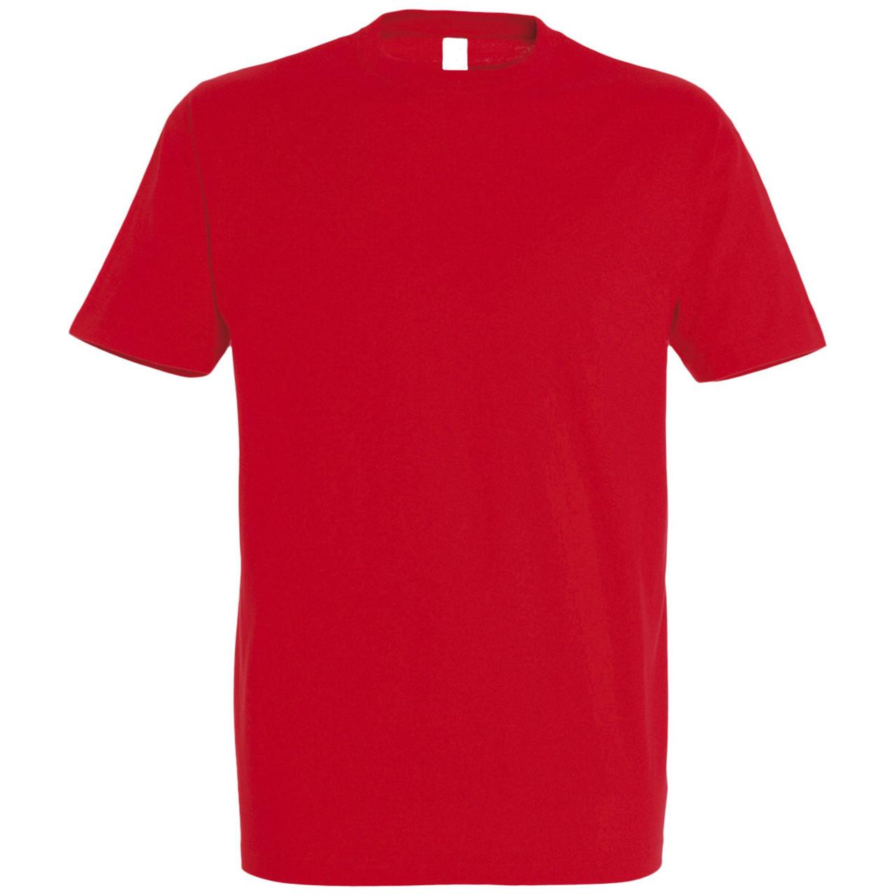 Oднотонная футболка | Красная | 160 гр. | S