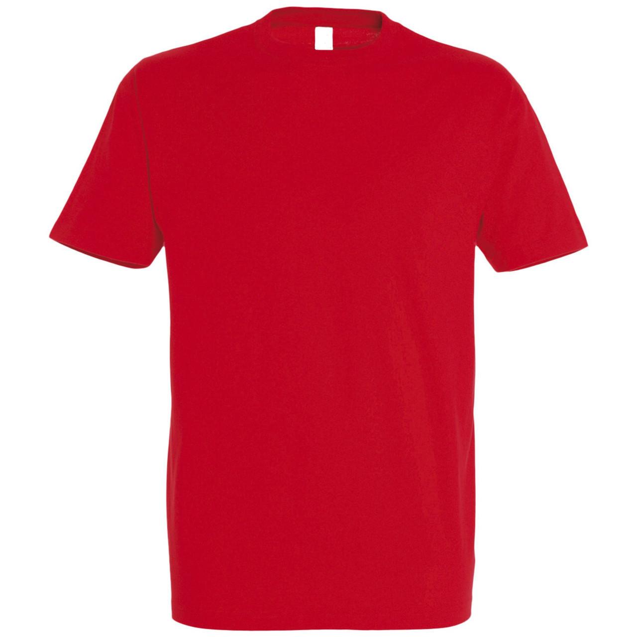 Oднотонная футболка   Красная   160 гр.   L