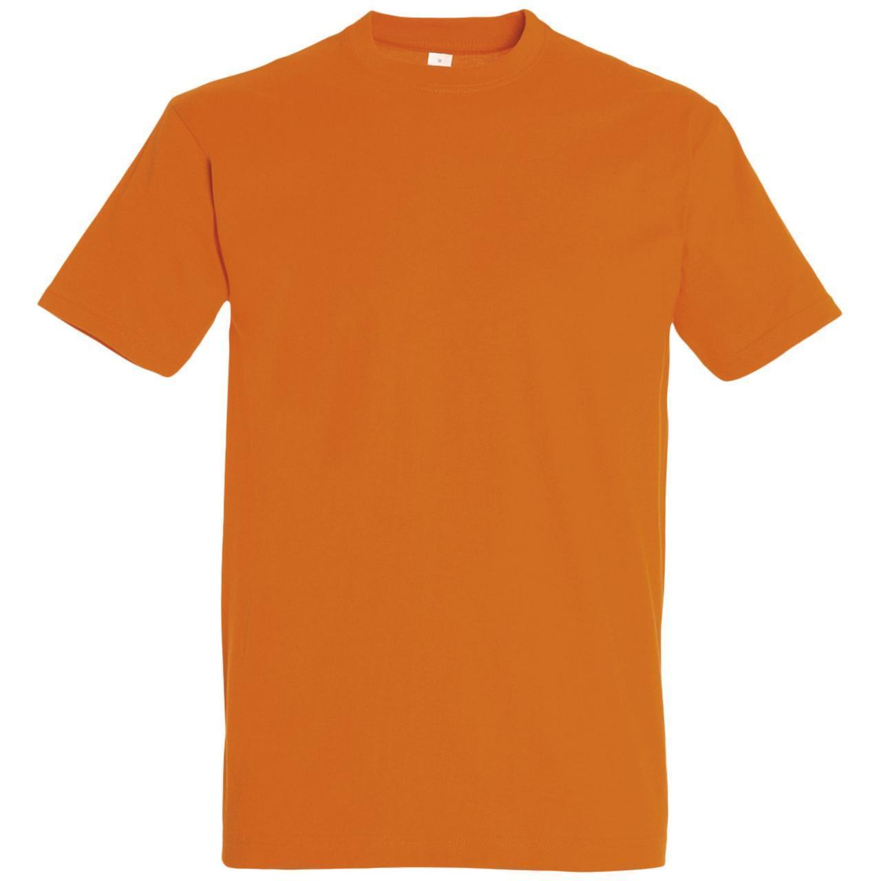 Oднотонная футболка   Оранжевая   160 гр.   XL