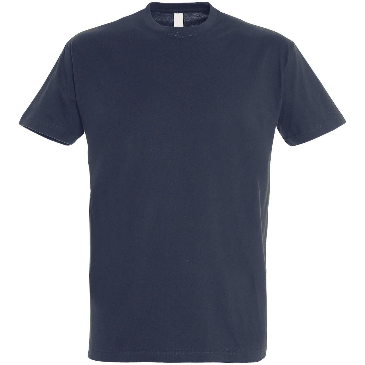 Oднотонная футболка | Темно-синяя | 160 гр. | M