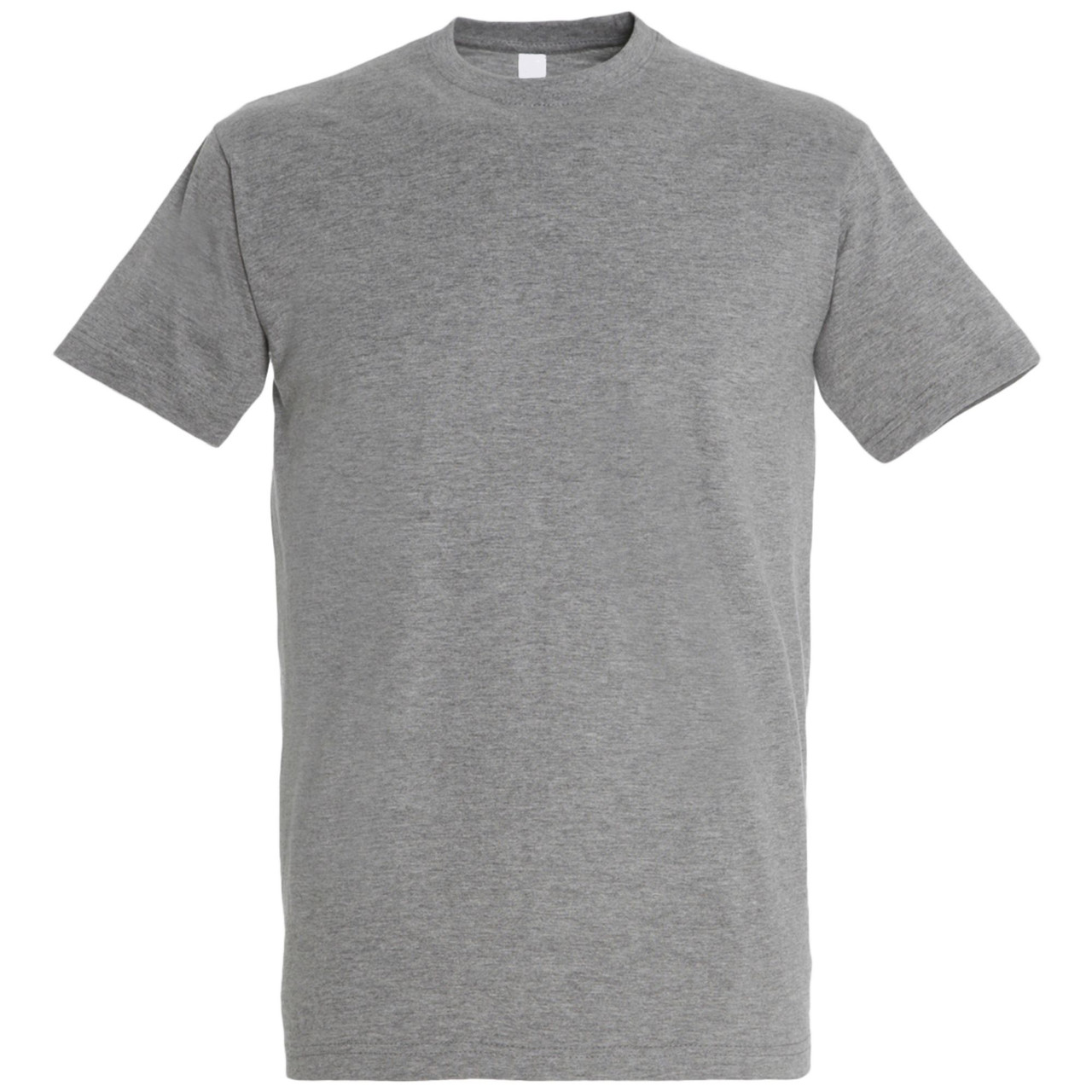 Oднотонная футболка | Серый меланж | 160 гр. | XS