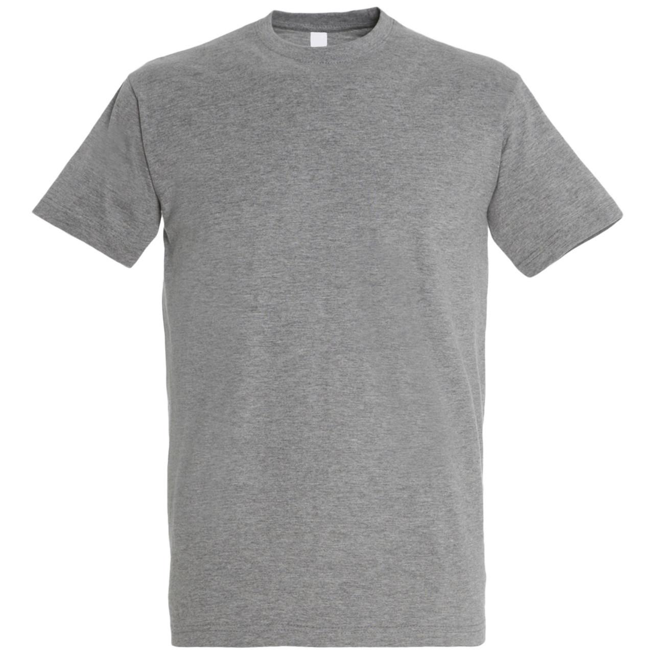 Oднотонная футболка   Серый меланж   160 гр.   S