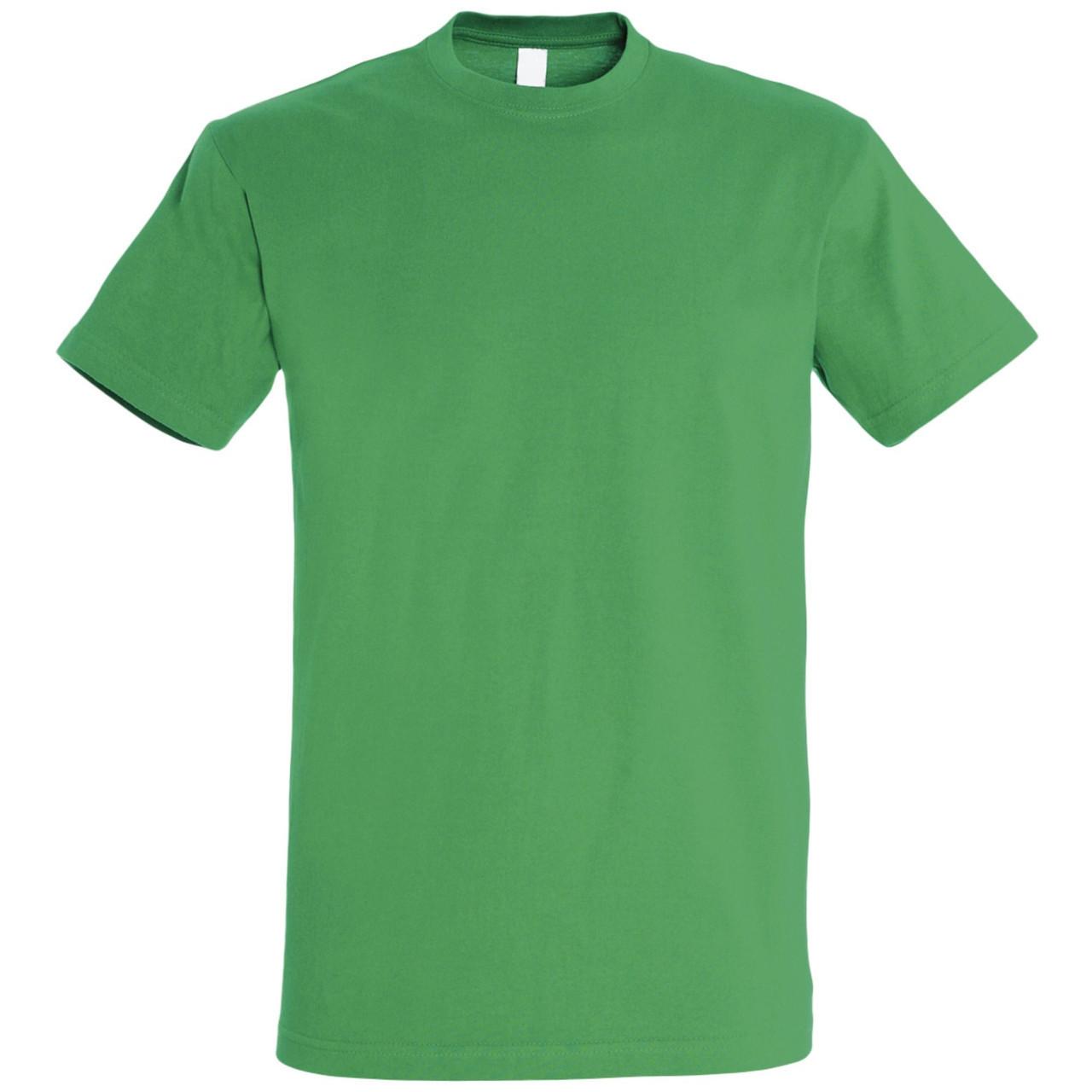 Oднотонная футболка | Зеленая | 160 гр. | XL
