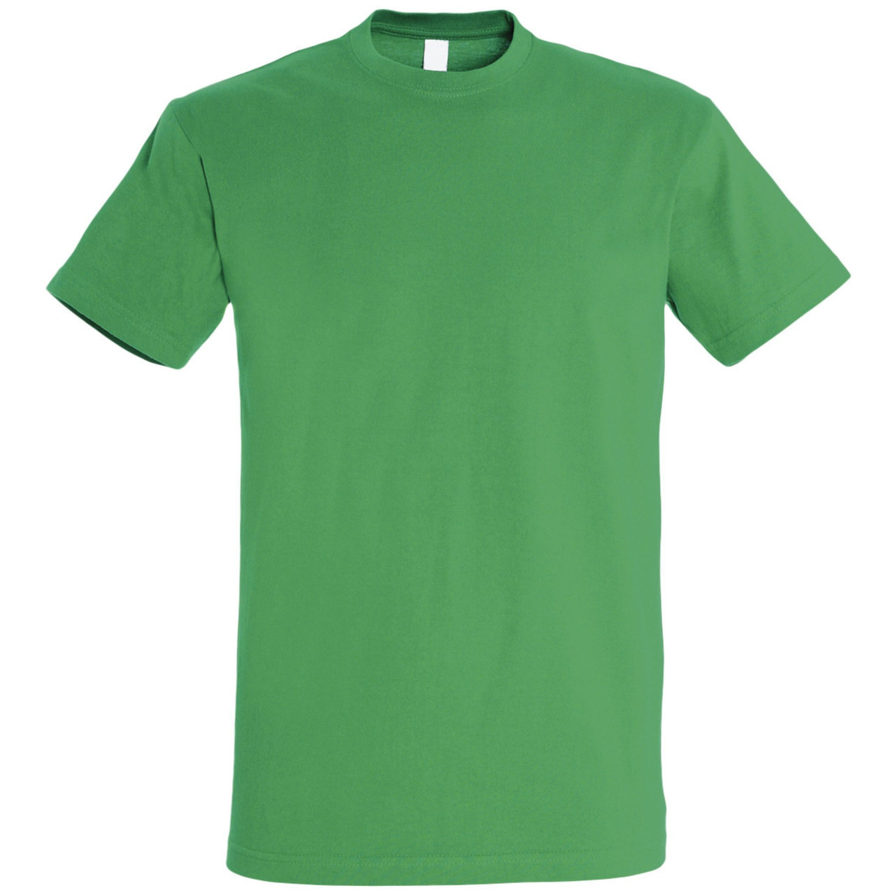 Oднотонная футболка   Зеленая   160 гр.   3XL