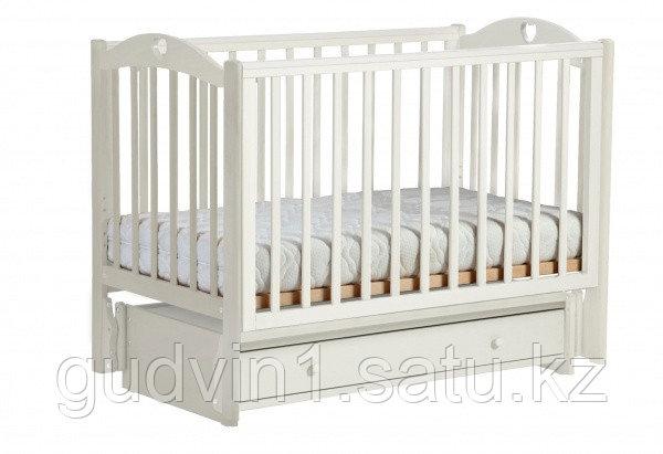 ЛЕЛЬ Кровать детская КУБАНОЧКА-11 маятниковая ваниль БИ 87