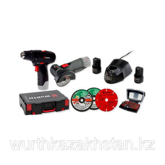 Комплект аккумуляторного инструмента в комплекте с битами и кругами 31 шт.
