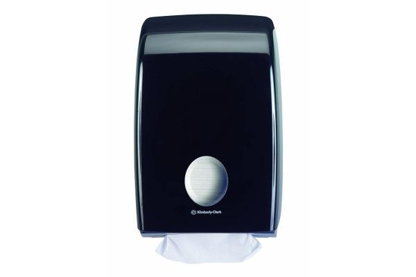 7171 Aquarius диспенсер для сложенных полотенец для рук чёрный производства Kimberly Clark Professional