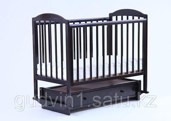 ЛЕЛЬ Кровать детская КУБАНОЧКА-5 с продольным маятником БИ 41.3 венге