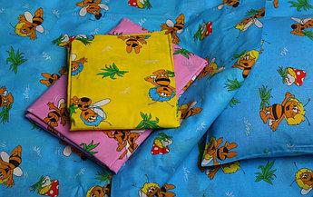 Комплект постельного белья «Аюшки»  наволочка размер 40х60 см, простыня на резинке размер 60х120 см, пододеяль