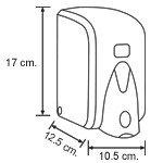 Диспенсер (дозатор) для пенки для мытья рук Vialli F5В (чёрного цвета) 500мл., фото 3