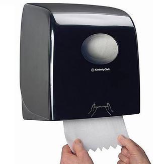 7956 Aquarius Slimroll диспенсер для рулонных бумажных полотенец чёрный Kimberly Clark Professional, фото 2