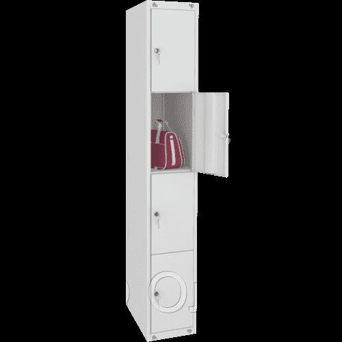 Шкаф металлический для сумок 4 ячейки (300х490х1850) арт. ШМ14