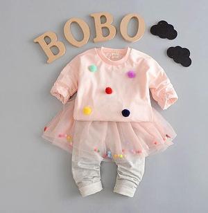 Костюм для девочки, цвет нежно-розовый, с серыми штанишками, на 2,5-3 года