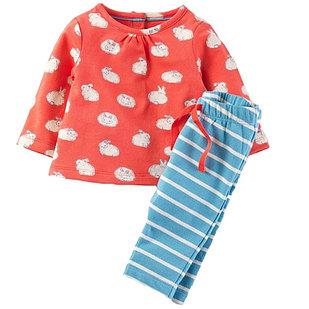 Костюм с зайчиками, кофта+штанишки