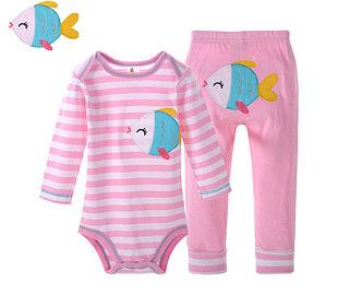 Боди+штанишки, цвет розовый