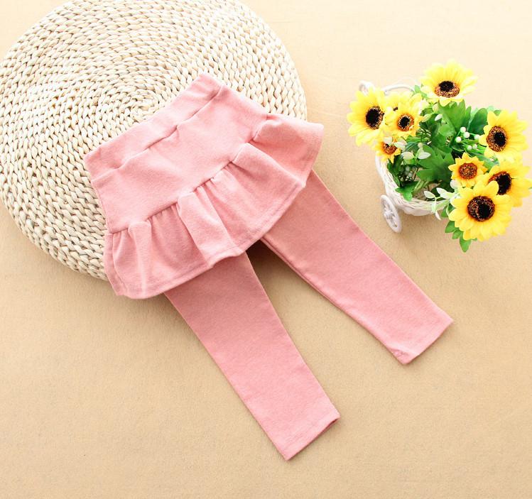Лосины с юбочкой, цвет светло- розовый