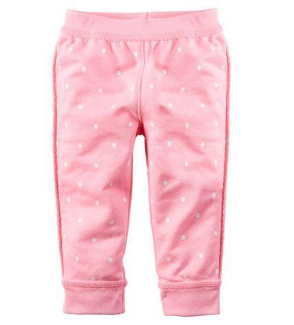 Штанишки весенние, цвет розовый, в горошек, Jumping Beans, 3-4 года