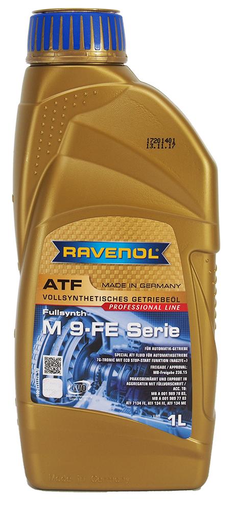 Трансмиссионная гидравлическая жидкость Ravenol ATF M 9-Serie для 7-ступенчатых АКПП Mercedes 1L