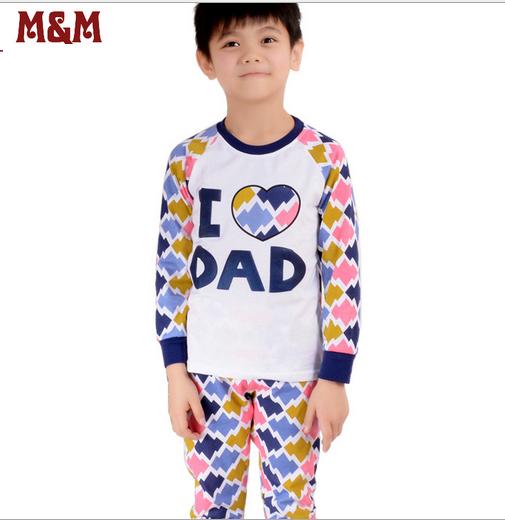 """Пижама """"Я люблю папу"""", цвет синий"""