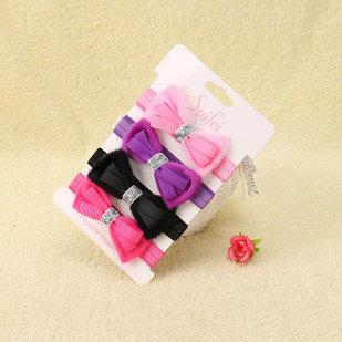 Ободки тканевые, в наборе 4 шт., для девочек 1-3 лет