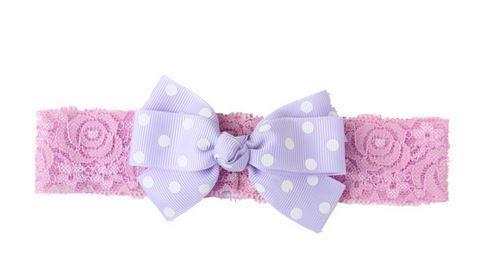 Ободок тканевый с бантиком, цвет фиолетовый