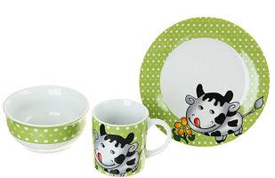 """Набор детской посуды """"Буренка"""", 3 предмета"""