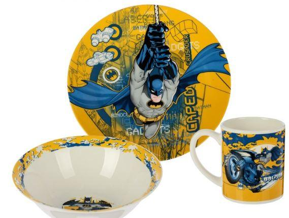 """Набор посуды """"Бэтмен"""", 3 предмета"""