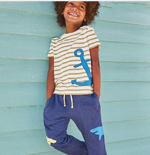 Летний костюм, штанишки+футболка, с якорем, Jumping Beans, на 6 лет